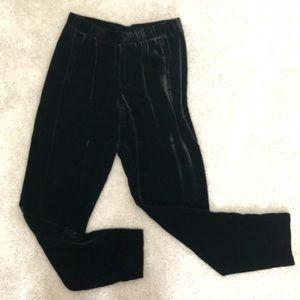 Theory black velvet ankle pants
